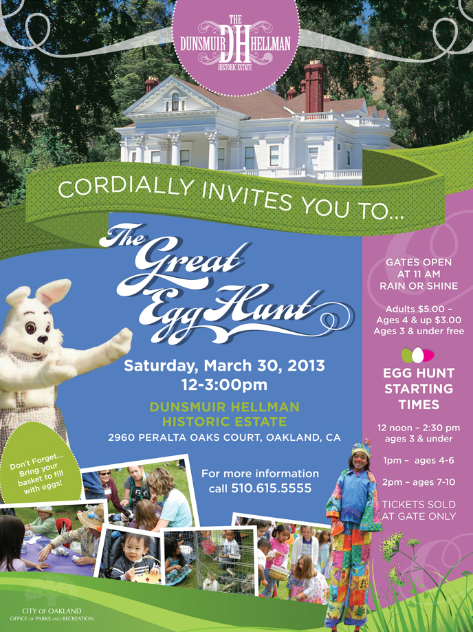 City of Oakland, CA – Parks & Recreation – Dunsmuir Hellman Historic Estate -The Great Egg Hunt
