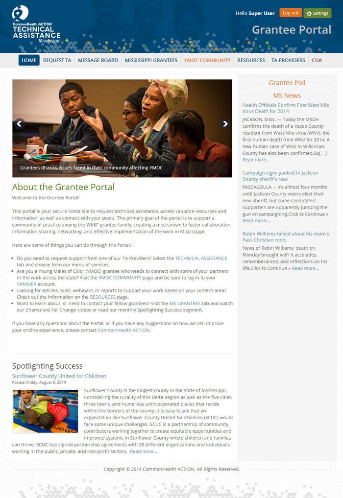 CommonHealth ACTION Grantees Portal